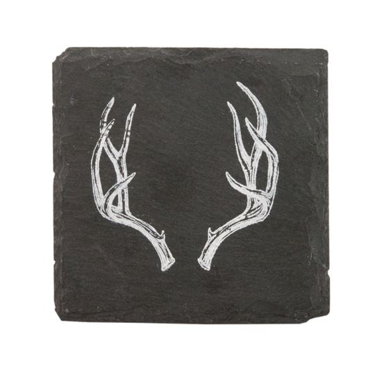 Picture of Antler Slate Coasters