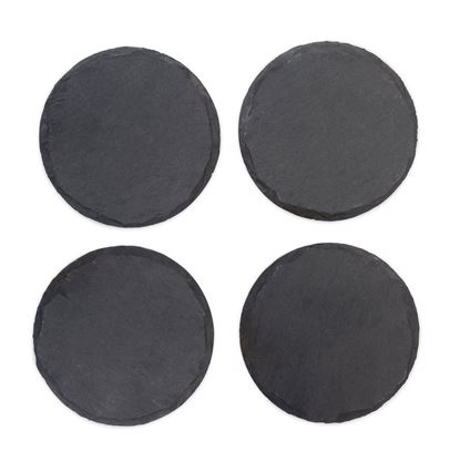 Picture of Circle Slate Coaster Set