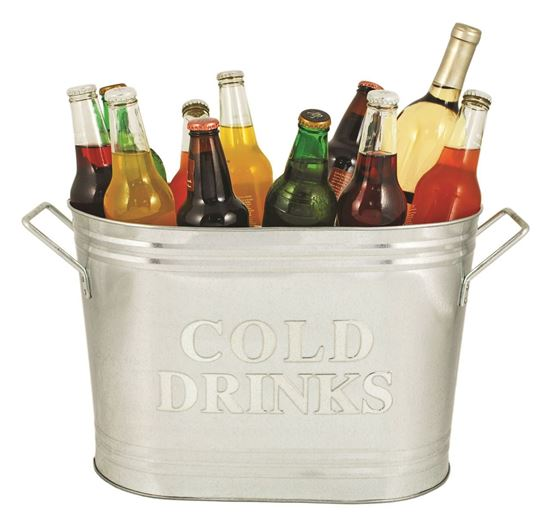 Picture of Cold Drinks Galvanized Ice Bucket