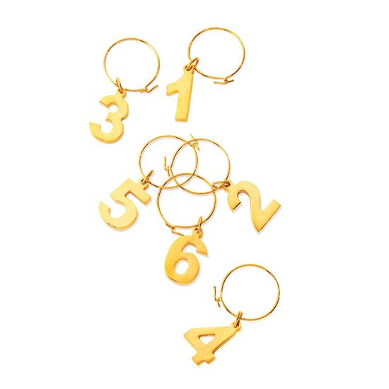 Picture of Gold Plated Wine Charms
