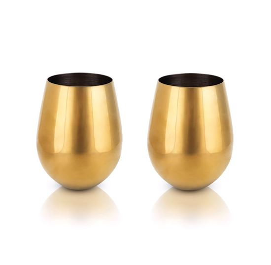 Picture of Gold Stemless Wine Glasses
