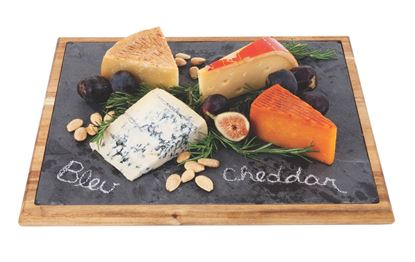Picture of Large Wood Bound Slate Cheese Board