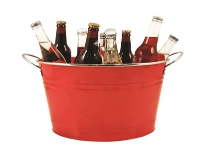 Picture of Red Galvanized Ice Bucket