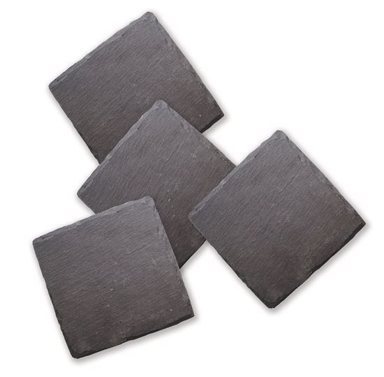 Picture of Square Slate Coaster Set