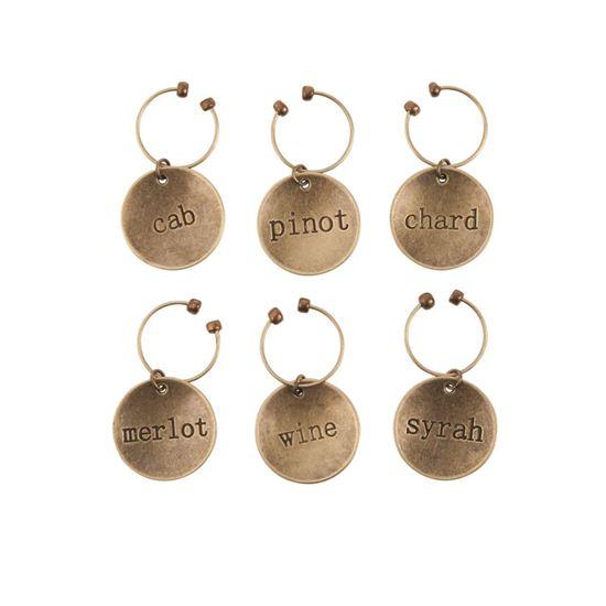 Picture of Varietal Metal Wine Charms