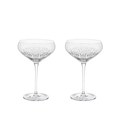 Picture of Floral Crystal Cocktail Coupe Set